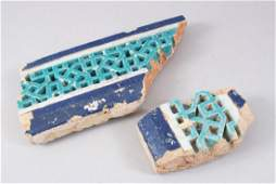 TWO 15TH CENTURY CENTRAL ASIAN TIMURID GLAZED POTTERY