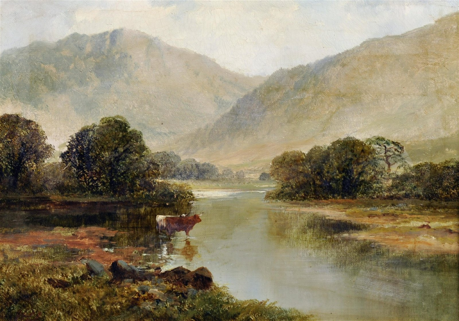 "James Peel (1811-1906) British. ""Cleveland"", a River"