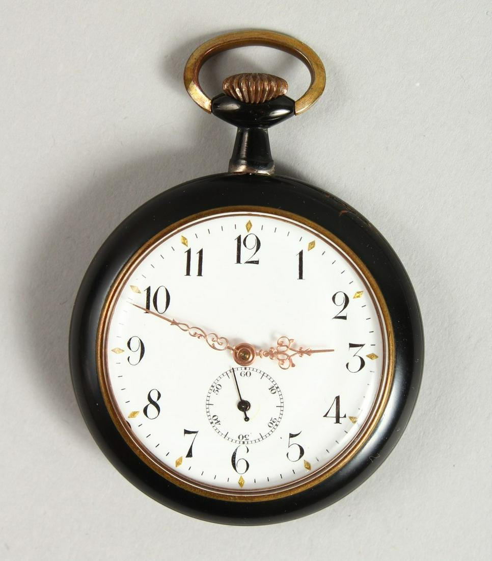 A 1920's - 1930's GERMAN EROTIC POCKET WATCH with white