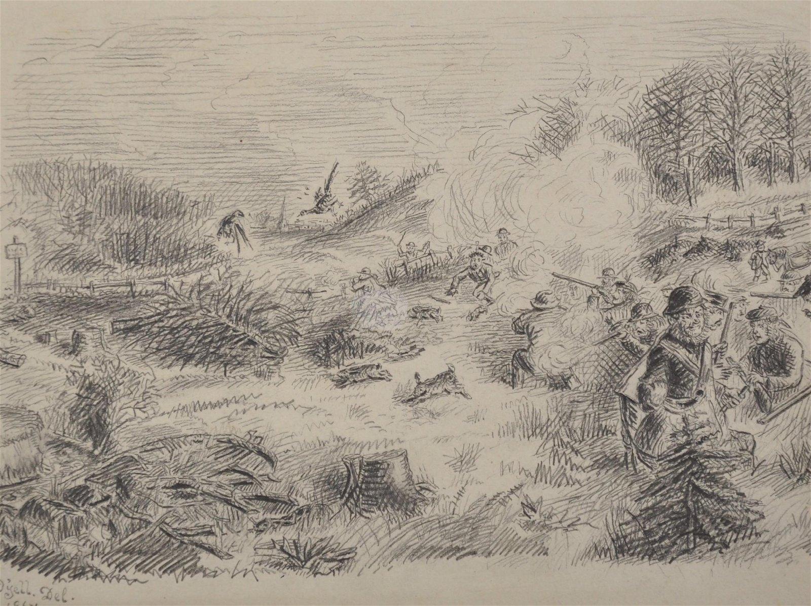 John James Dalyell (19th Century) British. A Shooting