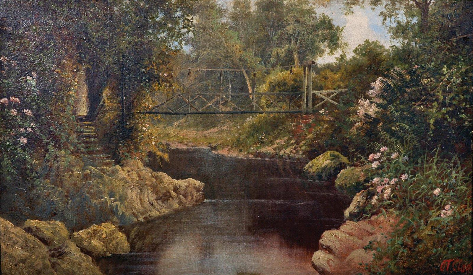 Octavius Thomas Clark (1850-1921) British. A River