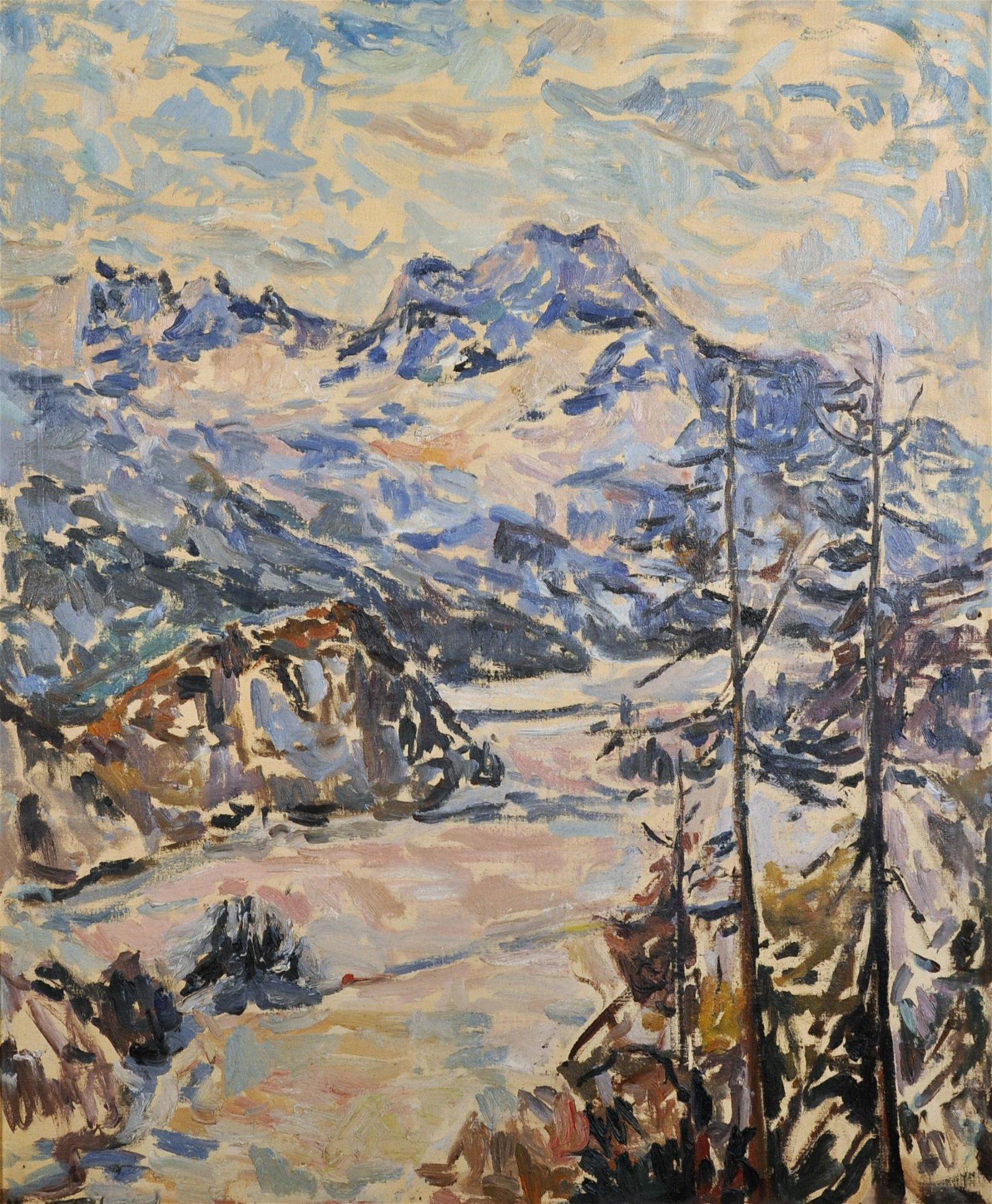 Marit Aschan (1919-2004) British. A Mountainous