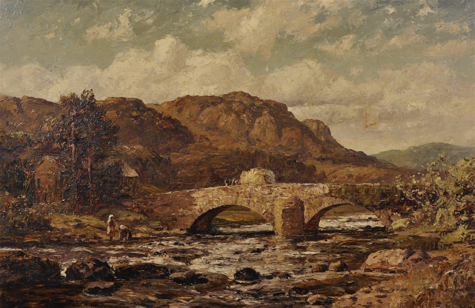 "Thomas Huson (1844-1920) British. ""Skelwith Bridge and"