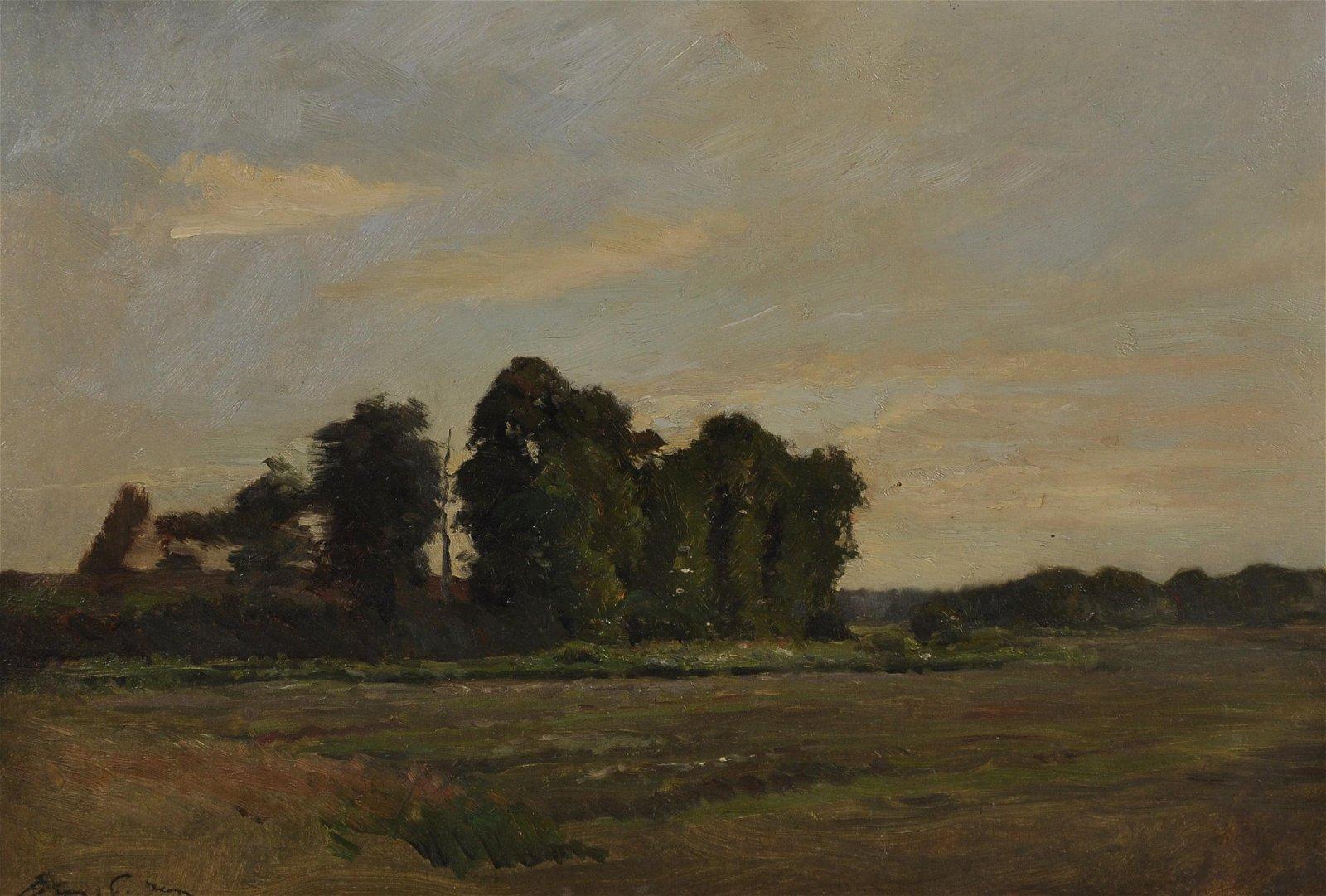 "Henry George Moon (1857-1905) British. ""Elms,"