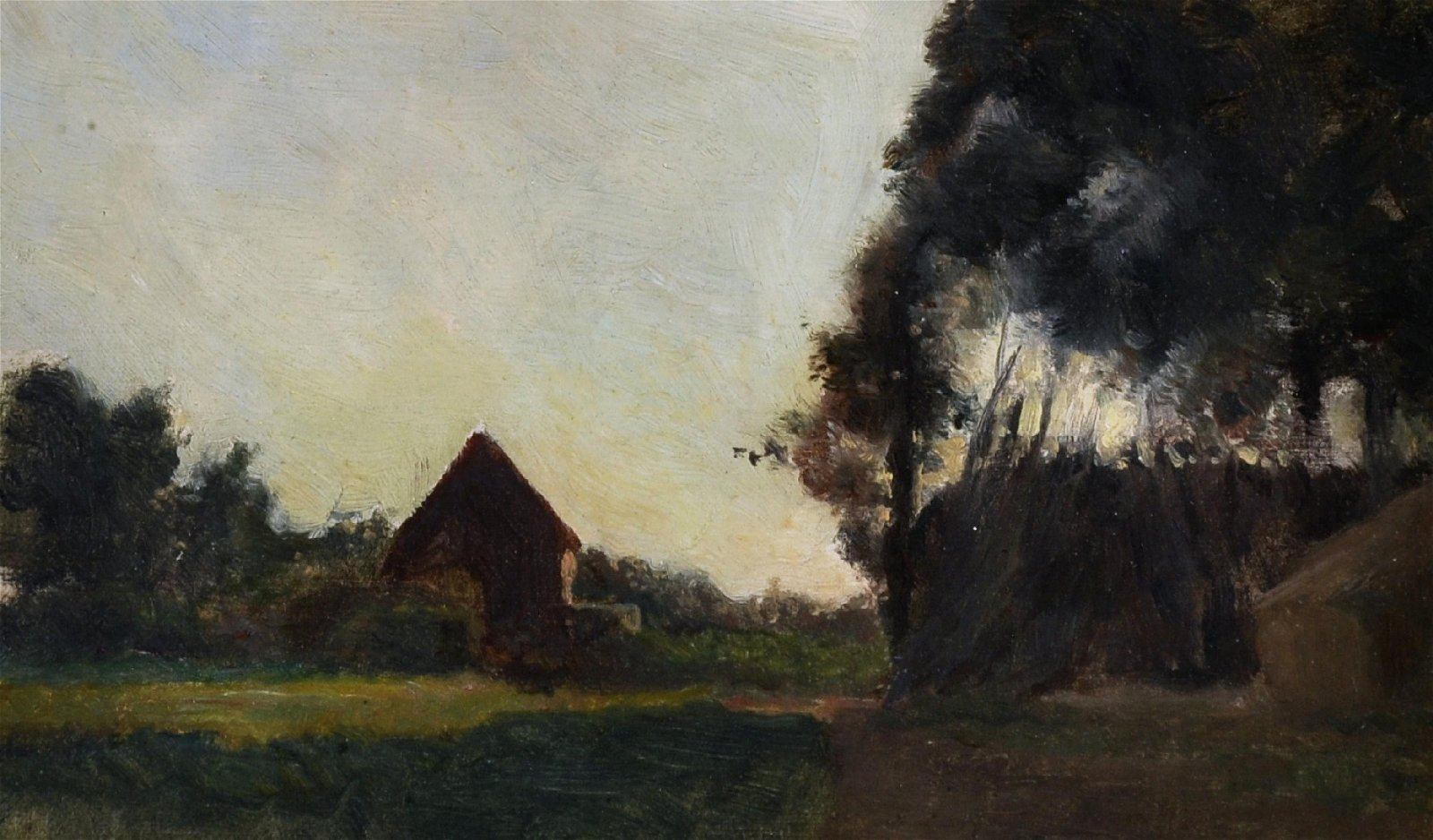 Henry George Moon (1857-1905) British. A Cottage by a