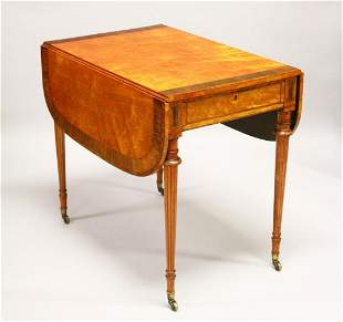 A GOOD EARLY 20TH CENTURY SATINWOOD, ROSEWOOD AND THUYA