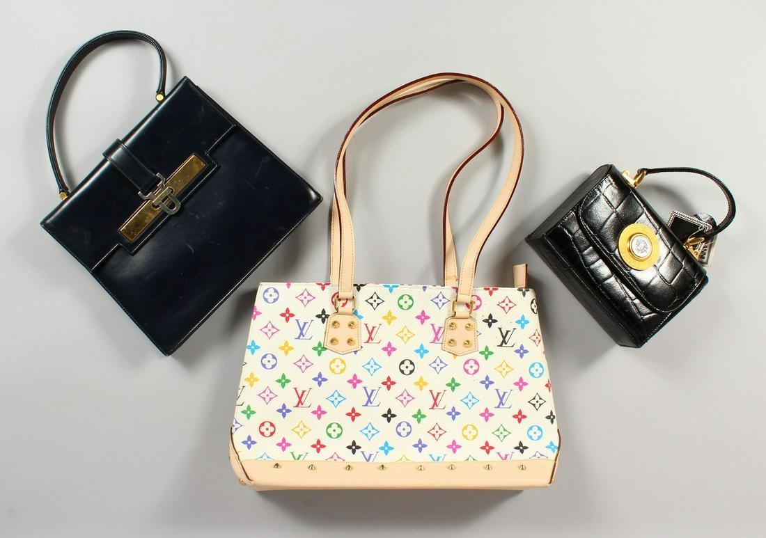 ALGERNON ASPREY, a ladies black leather handbag, and
