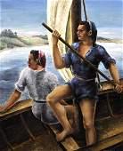 Antoine Serneels 1909 Belgian Two Fisherwomen