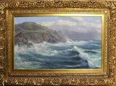 Walter Shaw (1851-1933) British. A Coastal Scene, with