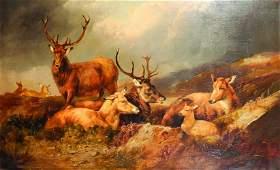John Charles Morris (act.1851-1889) British. A Herd of