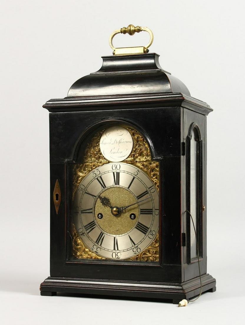 A SUPERB BRACKET CLOCK by SIMON DE CHARMERS, LONDON, in