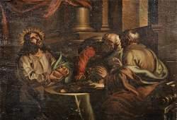 18th Century Italian School Christ Breaking the Bread