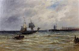 Gustave de Breanski (c.1856-1898) British. A Coastal