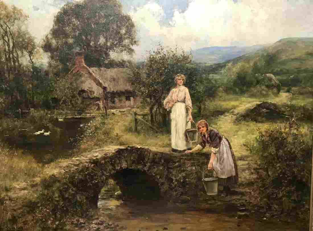 Henry John Yeend King (1855-1924) British. Two Young