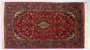 A GOOD KASHAN RUG first half of 20th Century red