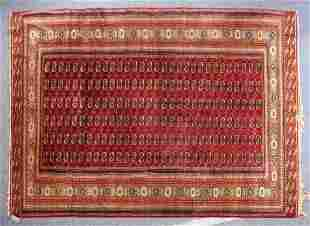 A GOOD LARGE BOKHARA CARPET MID 20TH CENTURY red