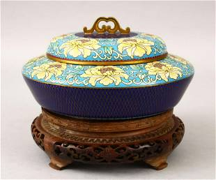 A 20TH CENTURY CHINESE CLOISONNE BOWL COVER the