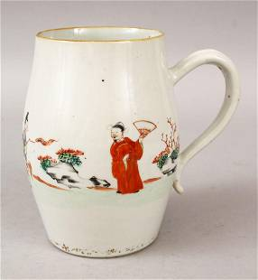 AN 18TH CENTURY CHINESE FAMILLE ROSE PORCELAIN JUG