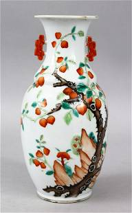 A 19TH CENTURY CHINESE FAMILLE ROSE PORCELAIN TWIN
