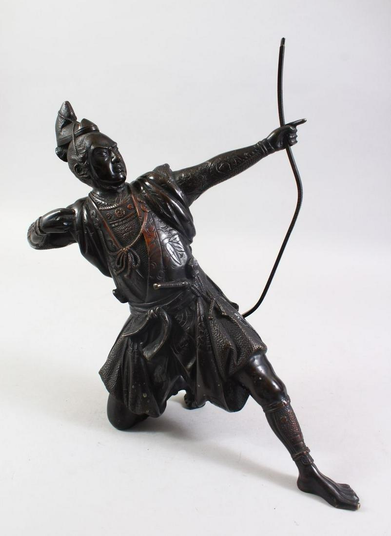 A GOOD JAPANESE MEIJI PERIOD BRONZE OKIMONO OF AN