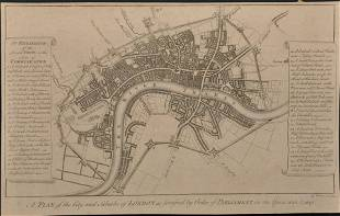 After George Vertue 16841756 British A Plan of the