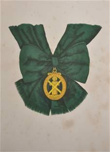 20th Century English School Badge Ribboned Order