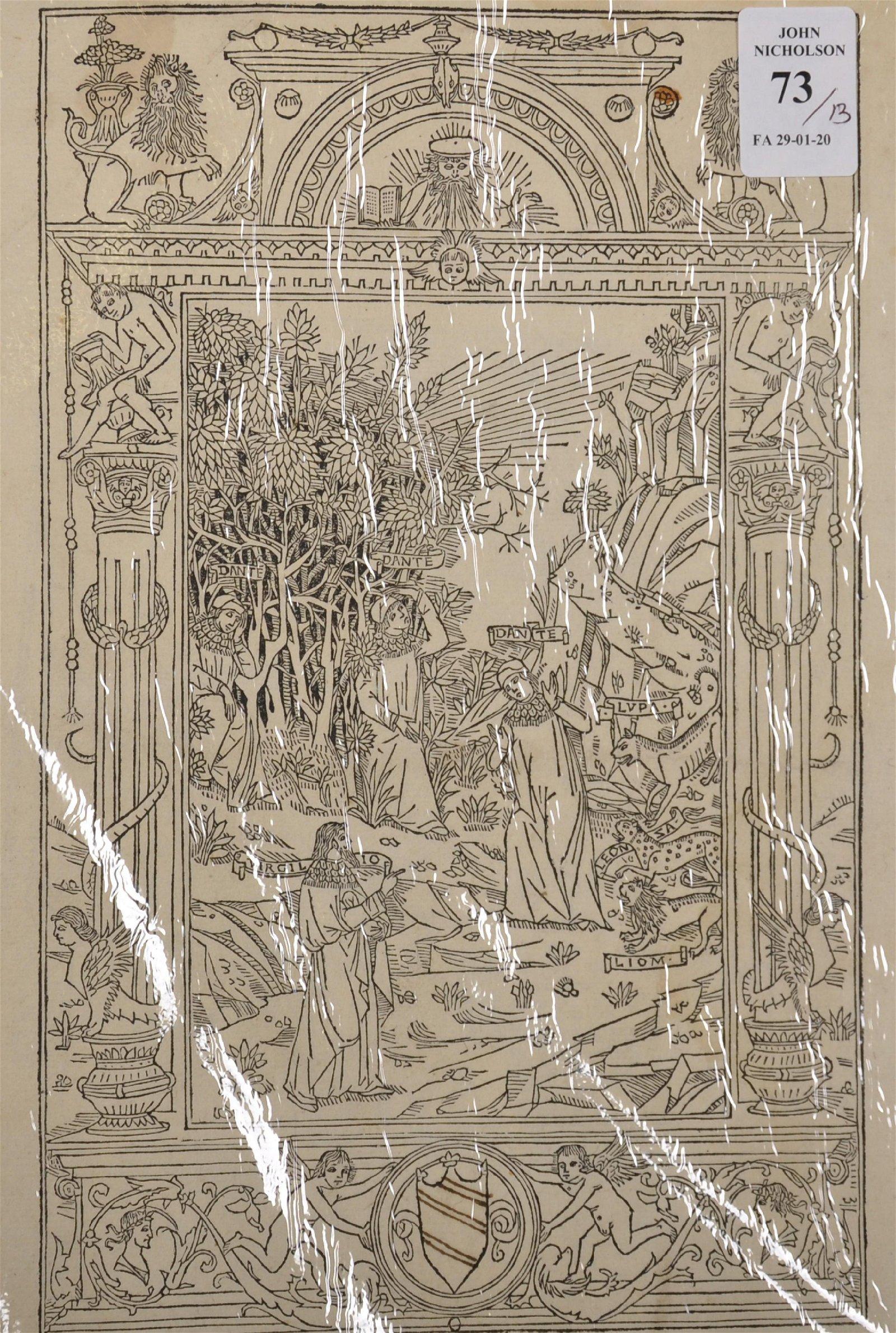 18th Century English School. 'Dante and Virgil',