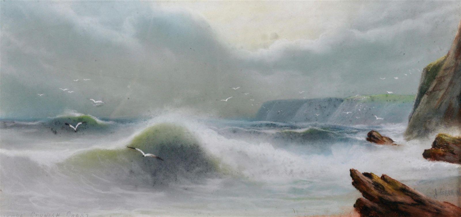 A... Groking (20th Century) European. A Coastal Scene