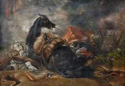 T... Davis (19th - 20th Century) British. A Battle