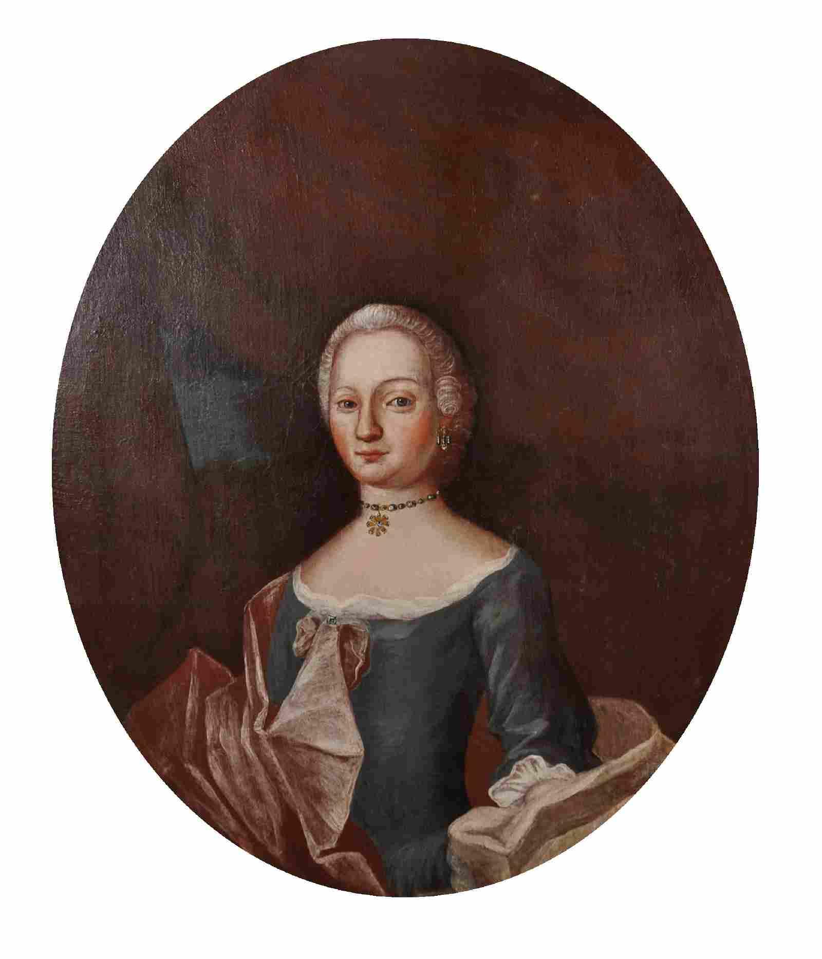 18th Century German School. Half Length Portrait of an