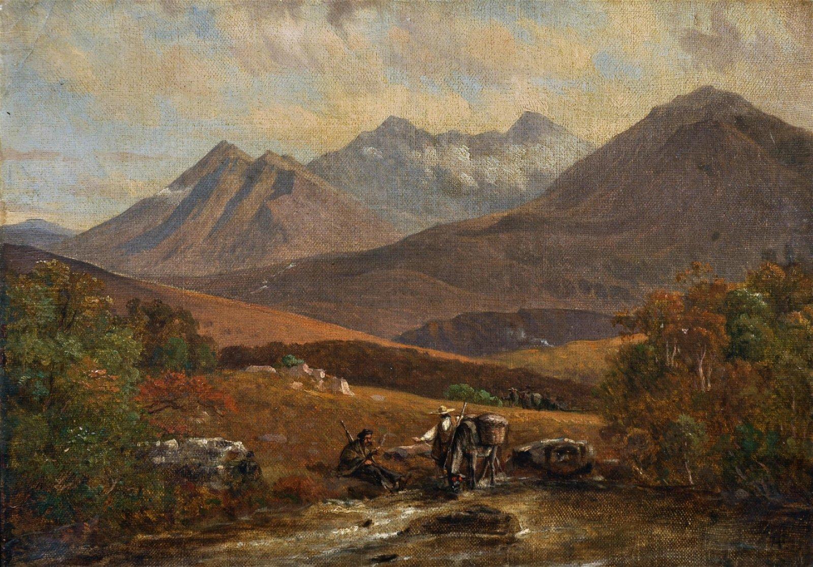 19th Century Mexican School. A Mountainous River