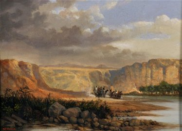 """Robert Moore (19th Century) American. """"The Snake River,"""