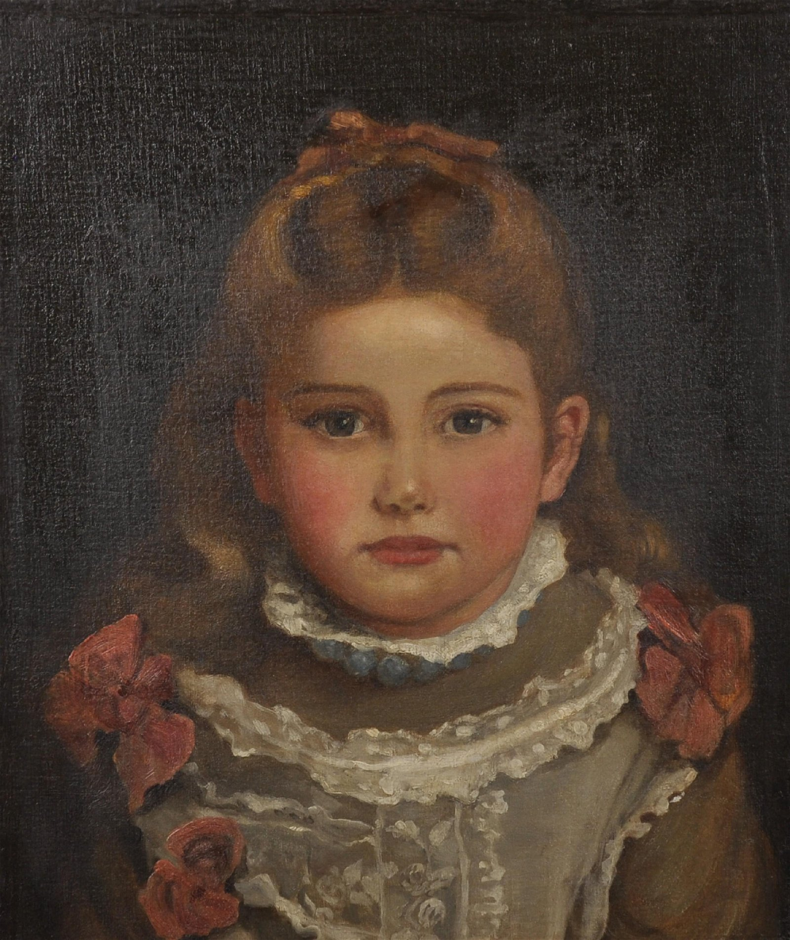 Late 19th Century English School. A Portrait of a Young