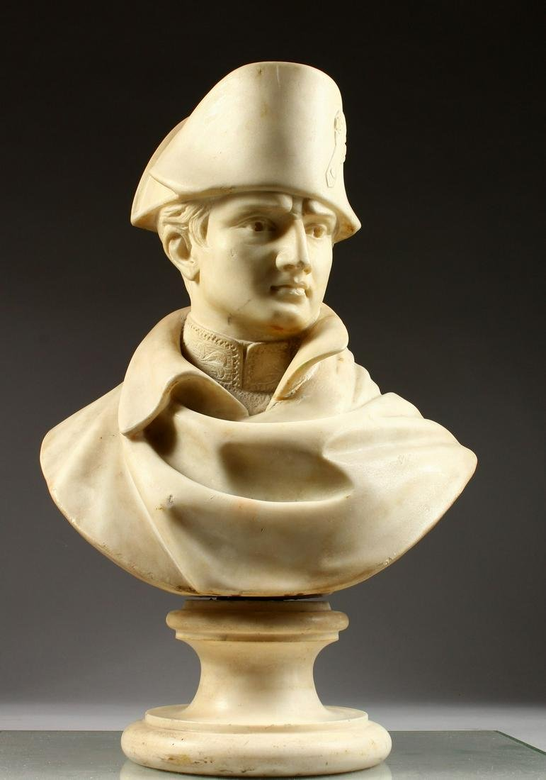 G. GAMBIANZI  A SUPERB CARVED WHITE MARBLE BUST OF