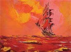George Richard Deakins 19111982 British A Seascape
