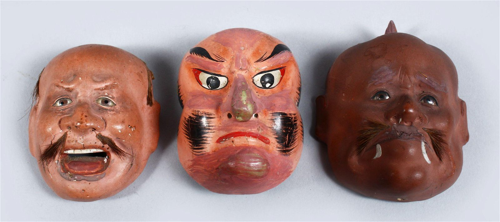THREE GOOD JAPANESE MEIJI / TAISHO PERIOD LACQUER NOH