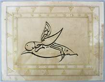 A GOOD 19TH  20TH CENTURY INDO PERSIAN MUGHAL ART HAND
