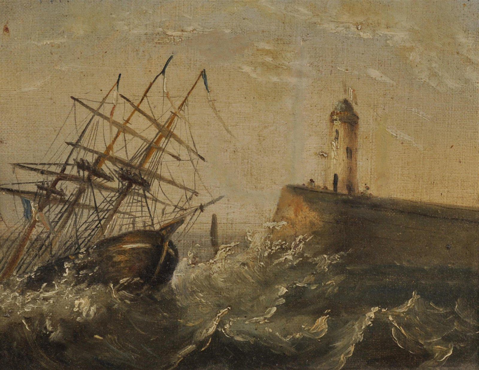 19th Century English School. A Three Masted Sailing