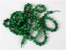 A GOOD SET OF CHINESE JADE / HARD STONE BEAD NECKLACE,
