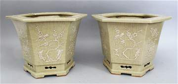 A GOOD PAIR OF 18TH / 19TH CENTURY CHINESE CELADON