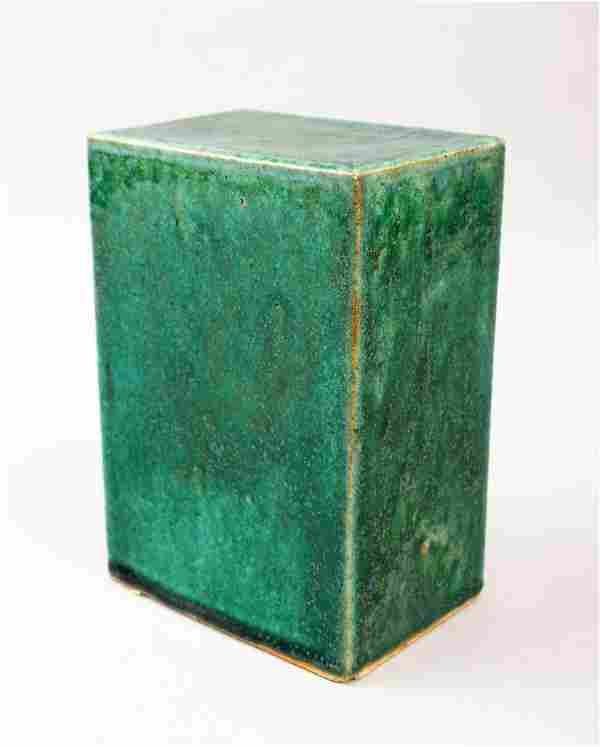 A GOOD 19TH CENTURY CHINESE TURQUOISE / CRACKLE GLAZE