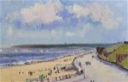 Geoffrey Chatham RBA British Gorleston Promenade Oil