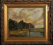 19th Century English School. A Norwich River Landscape,