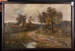 Late 19th Century English School. A River Landscape,