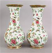 A GOOD PAIR OF 18TH  19TH CENTURY CHINESE CANTON