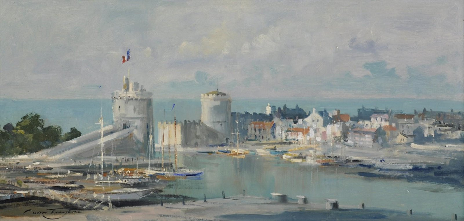 Ivan Taylor (b.1946) British. 'La Rochelle', Oil on