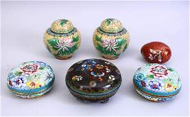 A MIXED LOT OF 19TH  20TH CENTURY CHINESE CLOISONNE
