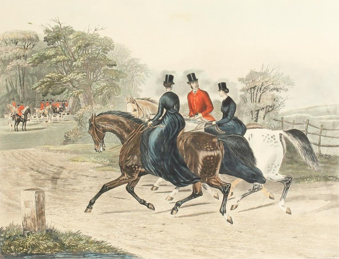 Charles Hunt after F.C Turner. 'The Riding School' and