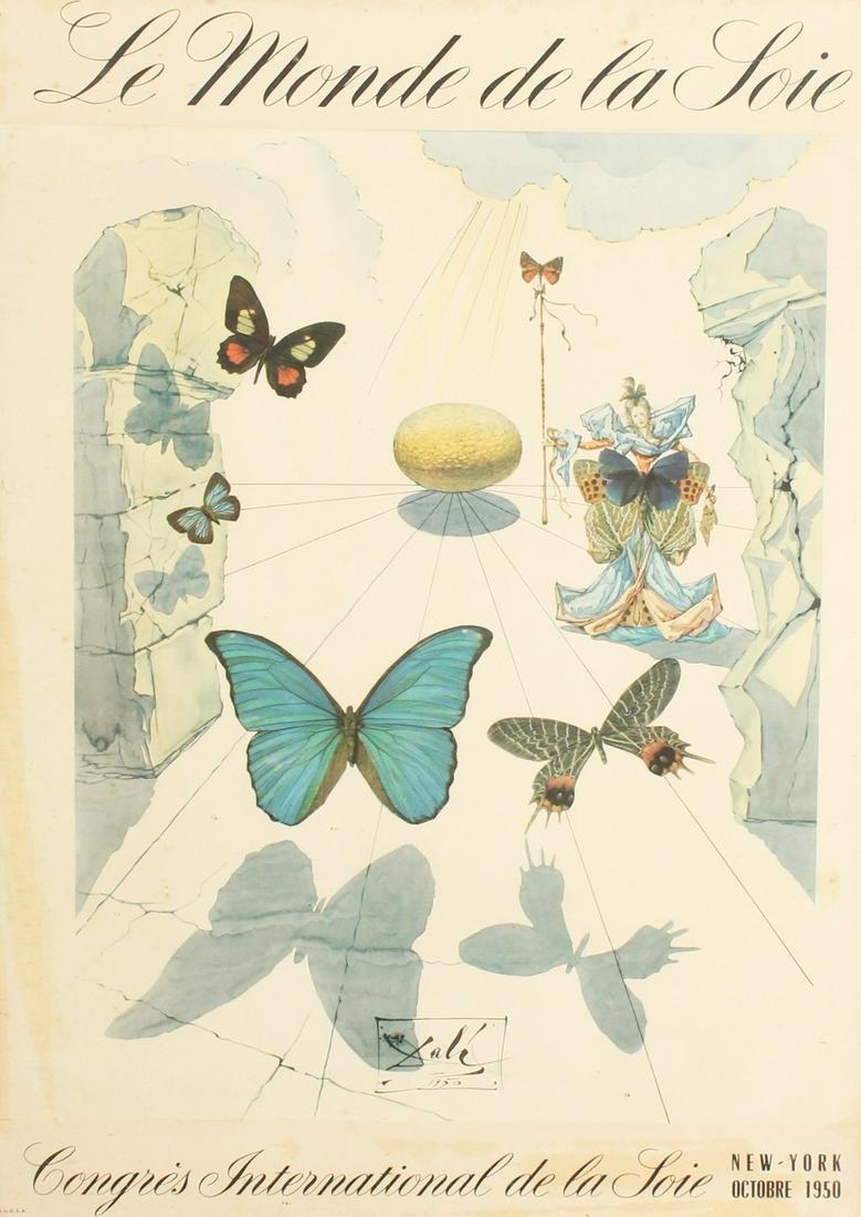 Dali, A Poster for 'La Monde de la Soie', New York,