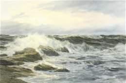 Edgar Freyberg (b.1927) German, a scene of waves